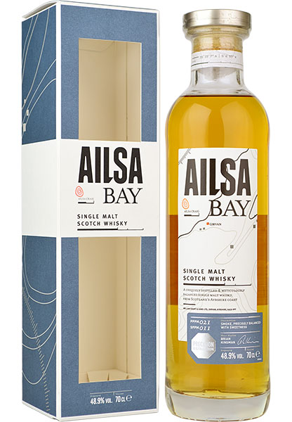 Ailsa Bay Single Malt Scotch Whisky - 70cl 48.9%