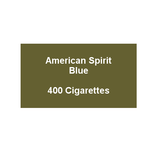 American Spirit Blue - 20 Packs of 20 cigarettes (400)
