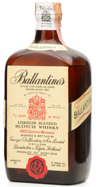 Ballantines 1950s 4/5 Quart 100% Scottish Blended Whisk - 75cl 43%