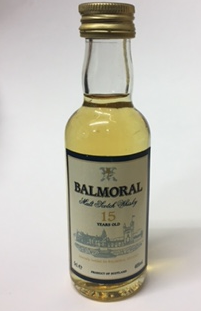 Balmoral 15 Year Old Malt Scotch Whisky Miniature - 5cl 46%