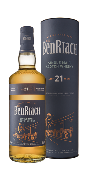 Benriach 21 Year Old Single Malt Scotch Whisky - 70cl 46%