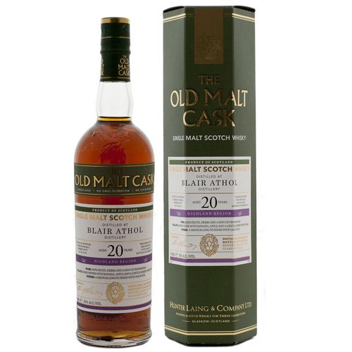 Old Malt Cask Blair Athol 20 Year Old Single Malt Scotch Whisky - 70cl 50%