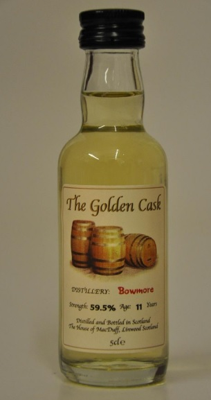 Bowmore 11 Year Old \'The Golden Cask\' Single Malt Whisky Miniature - 5cl 59.5%