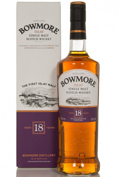 Bowmore 18 Year Old Single Malt Scotch Whisky - 70cl 43%