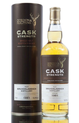 Bruichladdich 22 Year Old 1991 Cask Strength Whisky - 70cl 52.4%