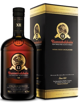 Bunnahabhain 12 Year Old Single Malt Scotch Whisky - 70cl, 46.3%