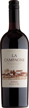 La Campagne Shiraz Wine  - 75cl 13%