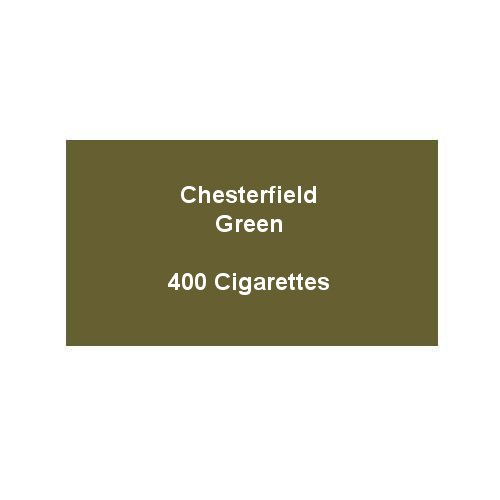 Chesterfield Green Super Kings Cigarettes - 20 packs of 20 cigarettes (400)