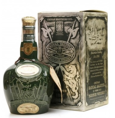 Chivas Royal Salute 21 Year Old \'Emerald Flagon\' Blended Whisky - 75cl 40%