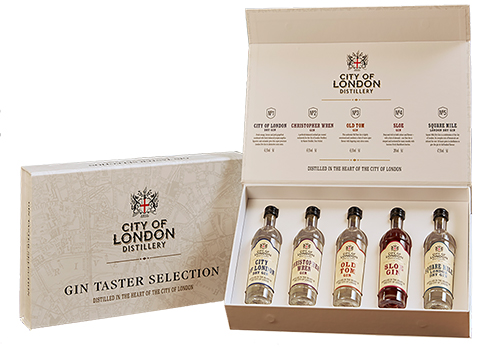 City of London Distillery Gin Taster Selection Box - 5x5cl 41%