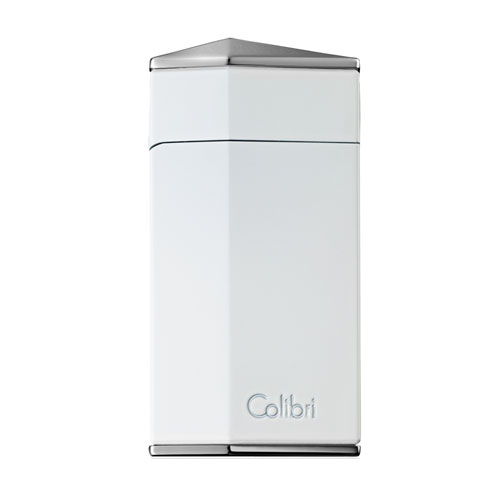 JANUARY SALE - Colibri Diamond – Single Jet Torch Lighter – White (End of Line)