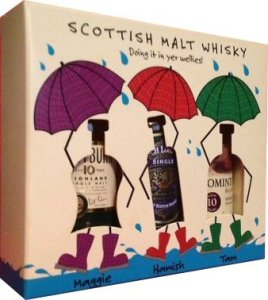 Doin It In Your Wellies Whisky Gift Set - 3 x 5cl