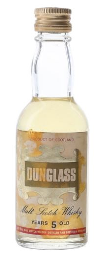 Dunglass 5 Year Old Bottled 1970s Miniature - 5cl