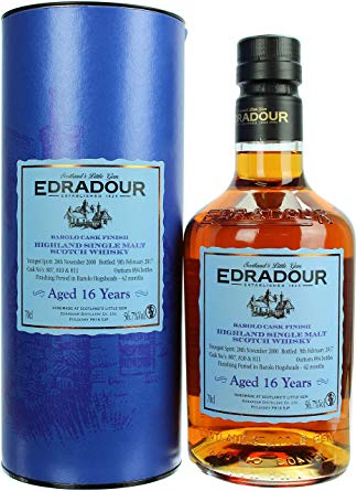 Edradour 16 Year Old 2000 Barolo Cask Finish Single Malt Scotch Whisky - 70cl 56