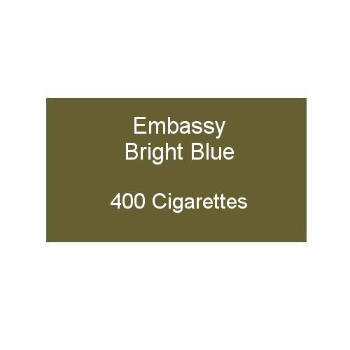 Embassy Bright Blue - 20 packs of 20 cigarettes (400)