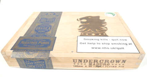 Empty Drew Estate Undercrown Maduro Flying Pig Box