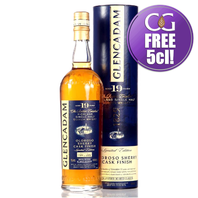 Glencadam 19 Year Old Oloroso Sherry Finish Single Malt Whisky - 70cl 46%