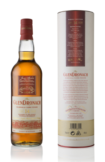 Glendronach 14 Year Old Marsala Cask Finish Whisky - 70cl 46%