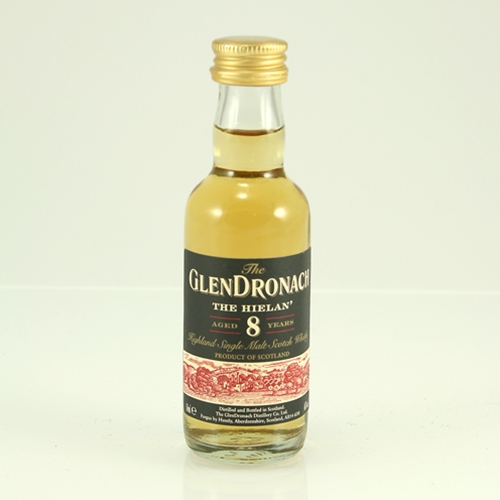 Glendronach 8 Year Old The Hielan Single Malt Scotch Whisky Miniature - 5cl 46%