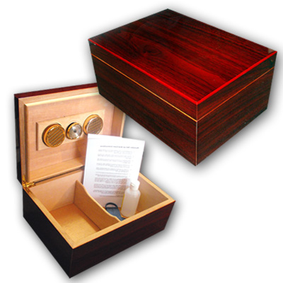 Cherrywood Humidor - High Gloss - 80 Cigar Capacity
