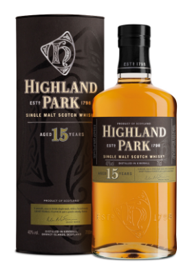 Highland Park 15 Year Old Single Malt Scotch Whisky - 70cl 40%