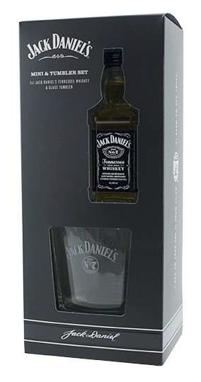 Jack Daniels Miniature and Tumbler Set