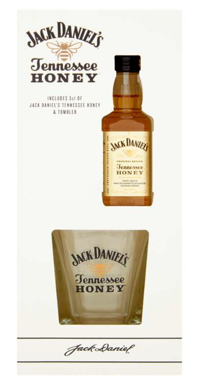Jack Daniels Honey 5cl and Tumbler Set