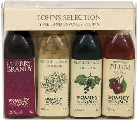 Johns Fruit Liquer Selection Box - 4 x 5cl Miniatures