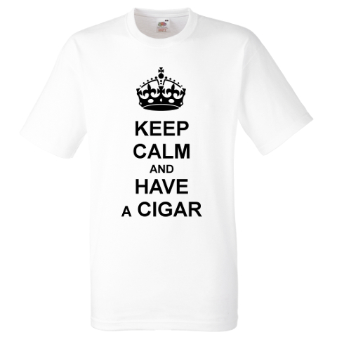 C.Gars Ltd - Keep Calm and Have a Cigar T-Shirt - White
