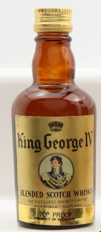King George IV Blended Scotch Whisky Miniature - 5cl 40%