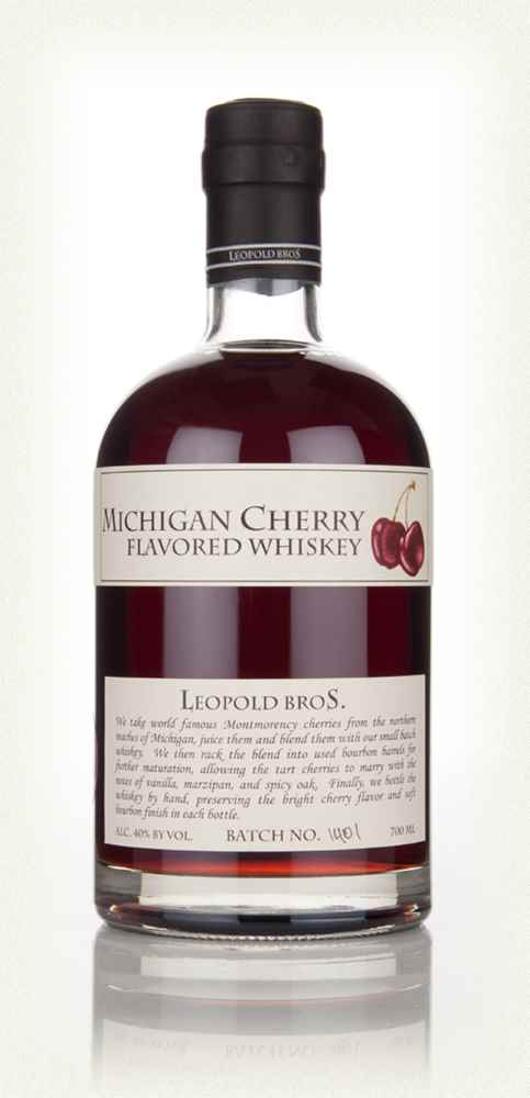 Leopold Bros Michigan Cherry Flavoured Whiskey - 70cl 40%