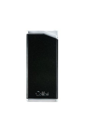 Colibri Delta Soft Flame Cigar Lighter - Metallic Black & Chrome