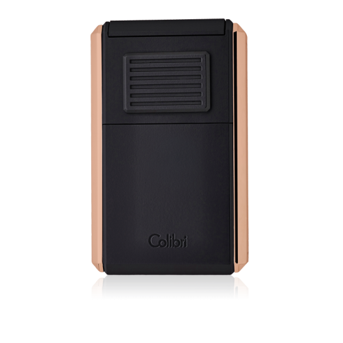 JANUARY SALE - Colibri Astoria Triple Jet Flame Lighter - Matte Black & Rose Gold (End of Line)