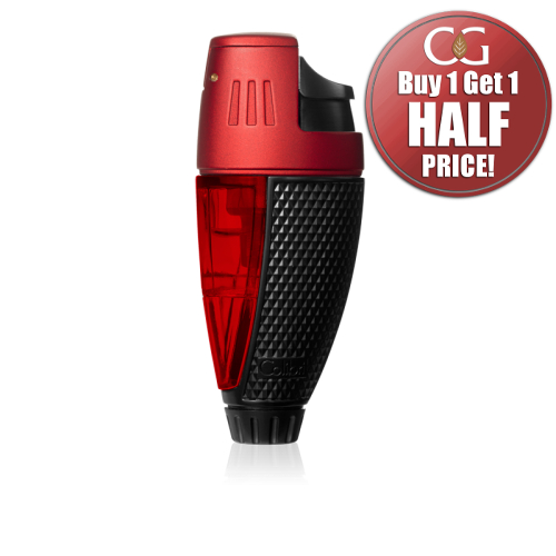 Colibri Talon Single-jet Flame Lighter - Red & Black (End of Line)