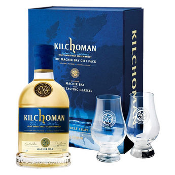 Kilchoman Machir Bay Gift Pack with 2 Glasses - 70cl 46%