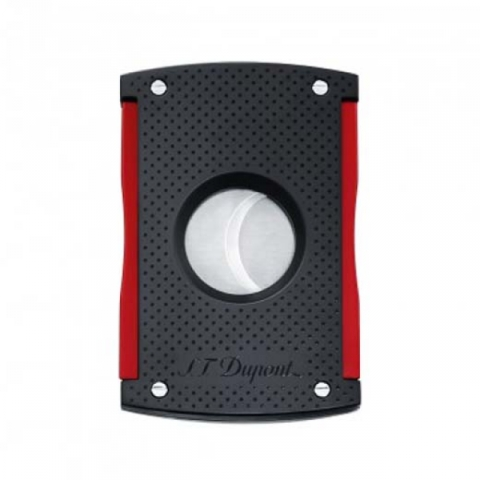 ST Dupont Maxijet Cigar Cutter – Matt Black and Red