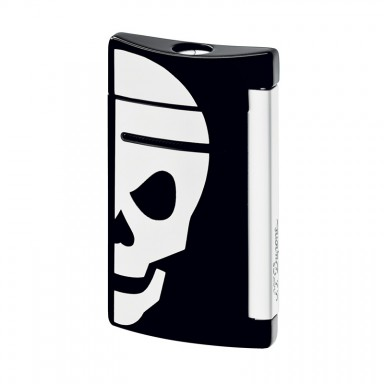 ST Dupont Lighter – Minijet – Black with White Skull