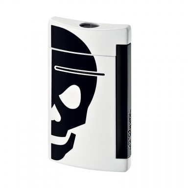 ST Dupont Lighter – Minijet – White with Black Skull