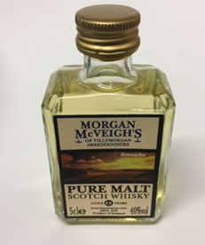 Morgan Mcveigh Pure Malt Miniature Whisky - 5cl 40%
