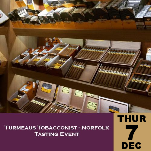 Turmeaus Norfolk Whisky and Cigar Tasting Event - 07/12/17