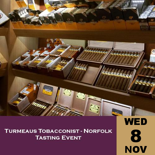 Turmeaus Norfolk Whisky and Cigar Tasting Event - 08/11/17