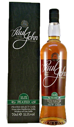 Paul John Peated Select Cask Indian Single Malt Whisky - 70cl 46%
