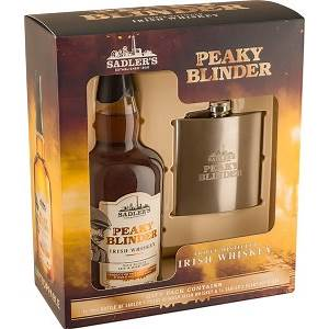 JANUARY SALE - Peaky Blinders Whiskey & Hip Flask Gift Pack 70cl