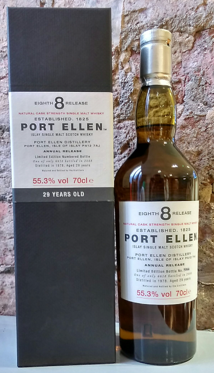 Port Ellen 30 Year Old 1979 8th Release Whisky - 70cl 57.7%