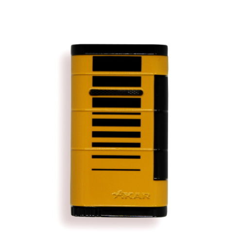 Xikar Allume Single Jet Lighter - Yellow with Black Stripes (End of line)