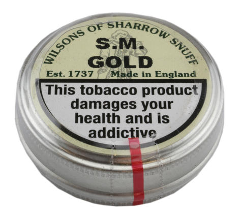 Wilsons of Sharrow - S.M Gold Snuff - Small Tin - 5g