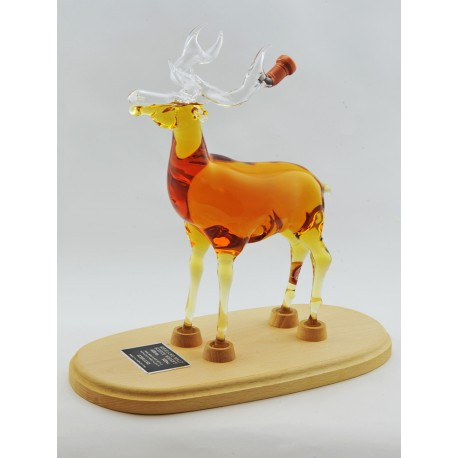 Stag Decanter on Wooden Stand - 500ml (Stylish Whisky) - 40%