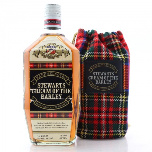 Stewarts Cream of the Barley 1970s Blended Scotch Whisky - 1 Litre 75 Proof