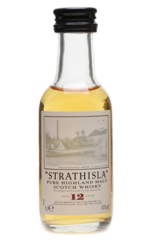 Strathisla 12 Year Old Pure Highland Malt Scotch Whisky Miniature - 5cl 43%