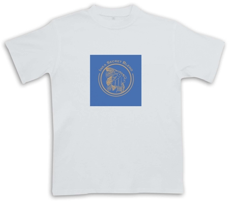 Inka T-Shirt Azul Blue Logo - White - Cigar Themed T-Shirt